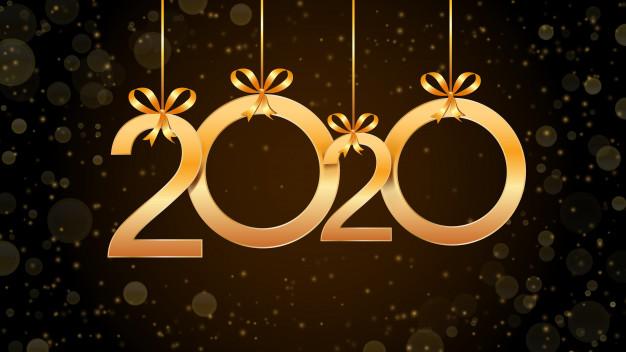 resume-bonne-annee-2020-numeros-suspendus-or-effet-paillettes-bokeh_73174-167